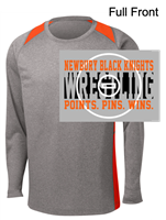 Grey and Orange Polyester Long Sleeve Shirt (Adult)