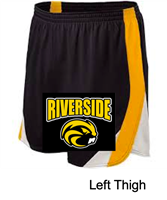 Black with Gold and White Performance Shorts  (Adult and Ladies)