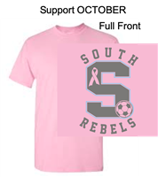 Light Pink Short Sleeve Cotton T-Shirt (Adult and Youth) SUPPORT OCTOBER