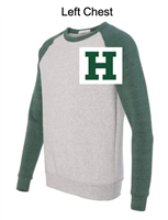 Light Grey and Green Fleece Colorblocked Sweatshirt (Adult)