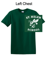 Hunter Green Short Sleeve T-Shirt (Adult and Youth)