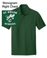 Forest Green Short Sleeve Pocket Polo (Adult)