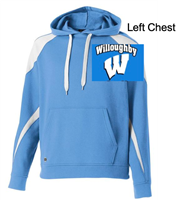 Columbia Blue and White Cotton Polyester Hooded Sweatshirt (Adult)