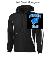 Black and White Colorblock Wind Jacket (Adult)
