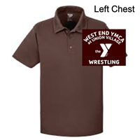 Brown Polyester Polo (Adult and Ladies)