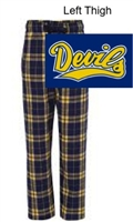 Navy and Gold Flannel Pants (Adult and Youth)