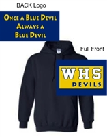 Navy Hooded Sweatshirt (Youth and Adult)
