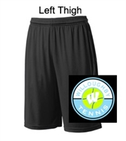 "Black Polyester 9"" Shorts (Adult)"