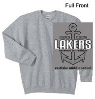 Sport Grey Crew Cotton/Polyester Sweatshirt (Adult and Youth)