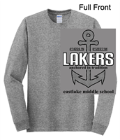 Sport Grey Long Sleeve Cotton/Polyester T-Shirt (Adult and Youth)