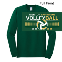 Hunter Green Long Sleeve Soft Style T-Shirt (Adult and Youth)