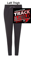 Black Heather with Black Trim Cotton/Polyester Joggers (Adult)