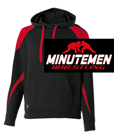 Black and Red Cotton Polyester Hooded Sweatshirt (Adult and Youth)