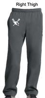 Dark Smoke Grey Polyester Pant (Adult, Ladies and Youth)