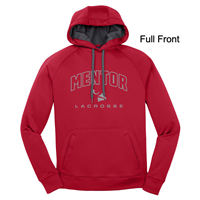 Red with Grey Polyester Hoodie (Adult and Ladies)