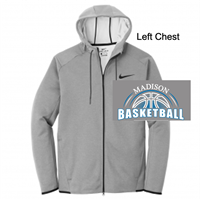 Grey Nike Fleece Full Zipper Hoodie Jacket (Adult)