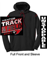 Black and Red Performance Hoodie (Adult)