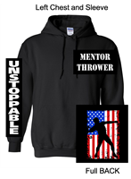 Black Hooded Sweatshirt (Youth and Adult)
