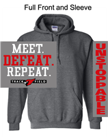 Graphite Heather Hooded Sweatshirt (Youth and Adult)
