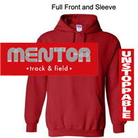Red Hooded Sweatshirt (Youth and Adult)