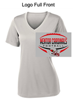 Sport Grey Ladies Performance V-Neck Tee - Short Sleeve (Ladies)