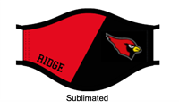 Black and Red Sublimated Masks (Adult)
