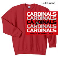 Red Crew Sweatshirt (Adult and Youth)