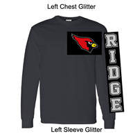 Black Long Sleeve T-Shirt (Adult and Youth) GLITTER