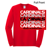 Red Long Sleeve T-Shirt (Adult and Youth)