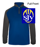Royal and Graphite Soft Polyester Performance 1/4 Zipper Pullover (Adult)