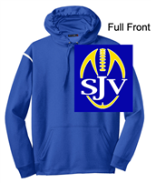 Royal Blue and White Performance Hoodie (Adult)