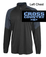 Black and Grey Polyester Long Sleeve 1/4 Zipper (Adult)