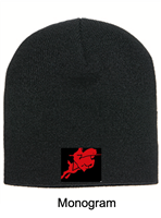 Black Knit Beanie (One Size)
