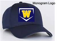 Navy Baseball Hat with Hook-and-Loop Closure (One Size)