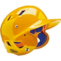Athletic Gold with Navy Facemask Batting Helmet (Adult)