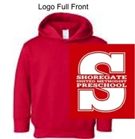 Red Hooded Sweatshirt (Adult, Youth and Toddler)