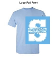 Light Blue Short Sleeve Tee Shirt (Adult, Youth and Toddler)