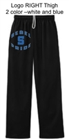 Black Dri-Power Sport Fleece Sweatpants (Adult)