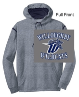 Grey Heather and Navy Performance Hoodie (Adult)
