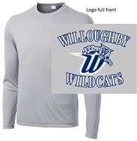 Silver Long Sleeve Performance T-Shirt (Adult and Youth)