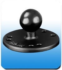 "Ram Mounts 2.5"" Diameter Round Base with 1.5"" Ball