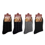 ALP-42742--MENS WOOL SOCKS, ASST COLORS