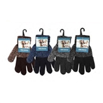 ALP-42804--KIDS (BOYS) STRETCH GLOVES, ASST DARK COLORS