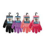 ALP-42809--KIDS (GIRLS) STRETCH GLOVES, ASST