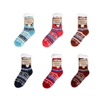 ALP-71191--SHERPA LINED SOCKS, CHRISTMAS DESIGNS (6/PAK)