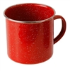 RED ENAMEL CUP S/S RIM, 24OZ