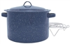 TAMALE POT 15.5 QT, DARK  BLUE ENAMEL w/wire steamer insert