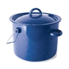 BLUE ENAM STRAIGHT POT, 3.2QT W/BAIL HANDLE