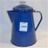 BLUE 12-CUP COFFEE PERCOLATOR