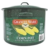 12QT GREEN ENAMEL CORN POT